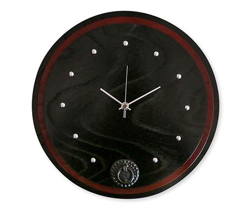 【商品名】丸時計(赤黒) 【寸法(mm)】外直径290×厚み36